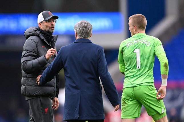 Jordan Pickford has been heavily criticised for the challenge which has left Vigril van Dijk requiring major