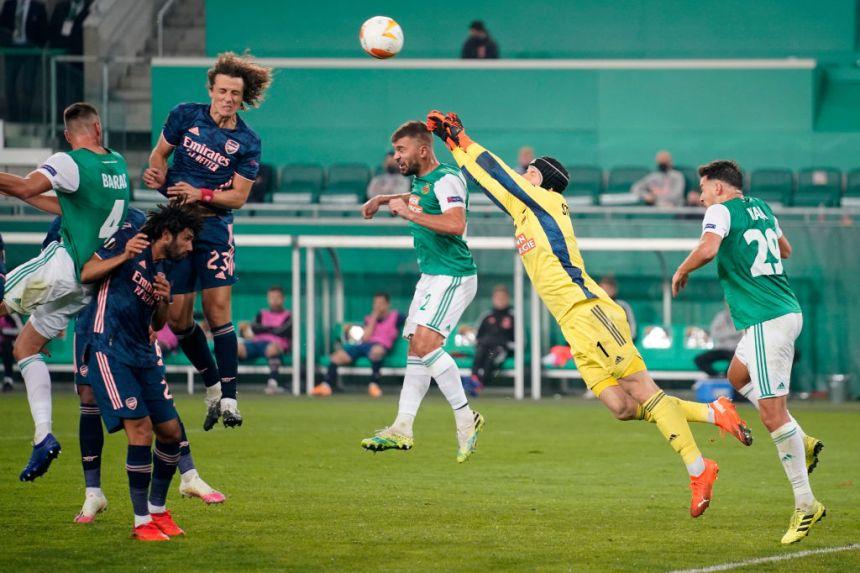 David Luiz Rapid Wien v Arsenal FC: Group B - UEFA Europa League
