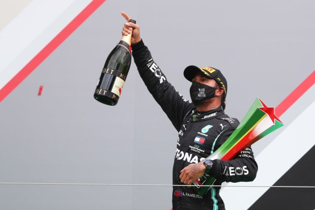 Lewis Hamilton secured victory at the Portuguese Grand Prix