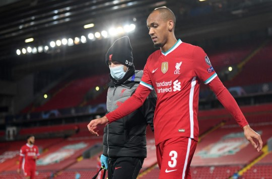 Fabinho came off with a hamstring injury in Liverpool's win