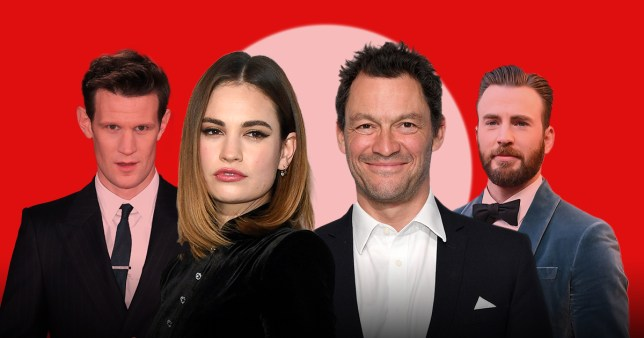 Matt Smith, Lily James, Dominic West and Chris Evans