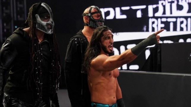 WWE superstar Mustafa Ali with RETRIBUTION on Monday Night Raw