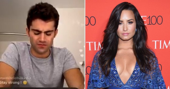 Demi Lovato's ex Max Ehrich sings about her in Afraid