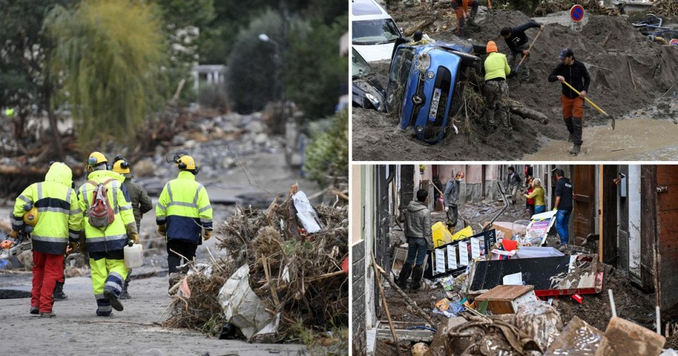 Clean up efforts are ongoing in France and Italy after devastating floods (Pictures: Getty)