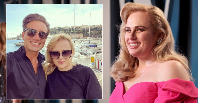 Rebel Wilson pictured at Vanity Fair party and taking selfie with boyfriend Jacob Busch