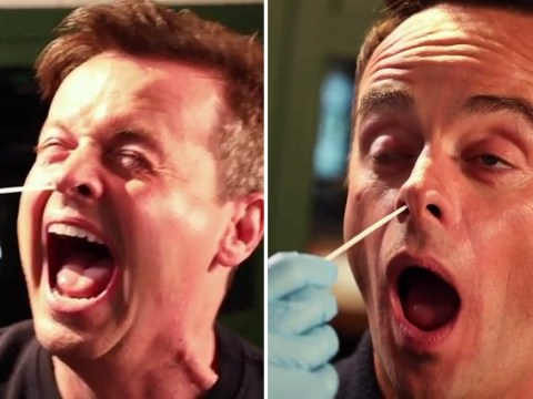 I'm A Celebrity's Ant McPartlin in stitches as Declan Donnelly gets tested for Covid: 'He doesn't like the tickly brain'