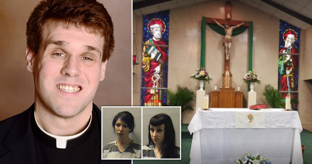 Priest caught 'filming himself having sex with two dominatrices on church altar'