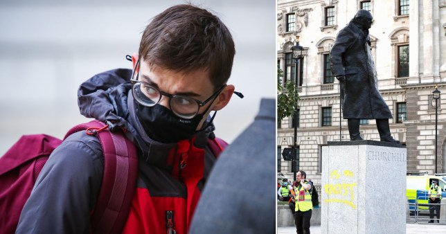 Protester who sprayed 'racist' on Winston Churchill statue fined £1,500