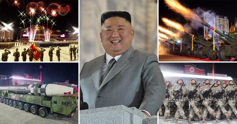 Composite image military parade