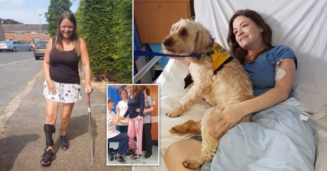 Stevie had a stroke at 35 that wiped out 20 years of her life  (Picture: Stevie Carver)