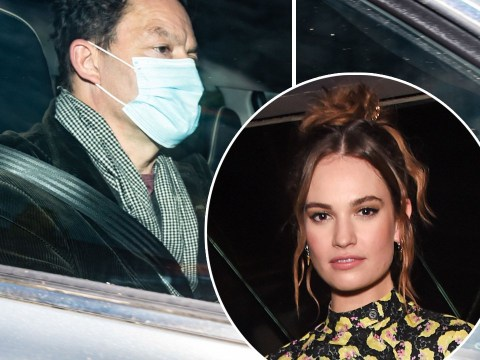 Dominic West arrives home for 'showdown talks' with wife after being pictured kissing Lily James