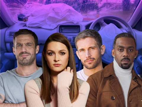 Who dies in the Hollyoaks car crash?