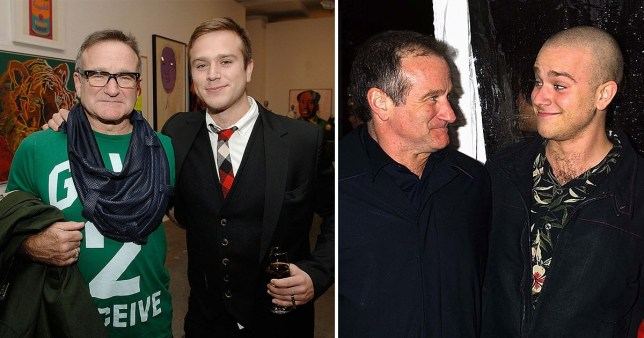 Robin Williams and son Zak Williams