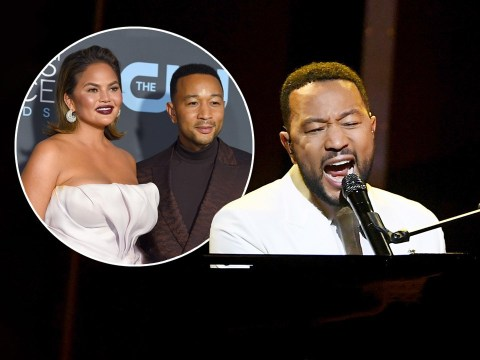 John Legend emotional as he dedicates Billboard Music Awards performance of Never Break to wife Chrissy Teigen after miscarriage