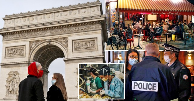 France puts 18,000,000 under 9pm curfew as 'state of emergency' returns