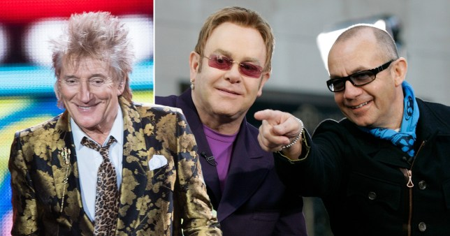 Rod Stewart Elton John Bernie Taupin