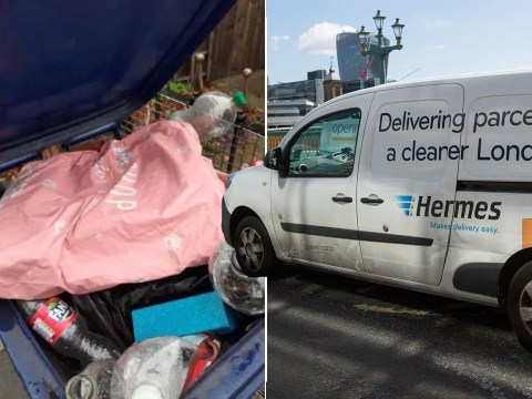 Mum's parcel taken away by binmen after delivery driver dumped it on rubbish