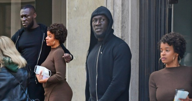 Stormzy with a friend