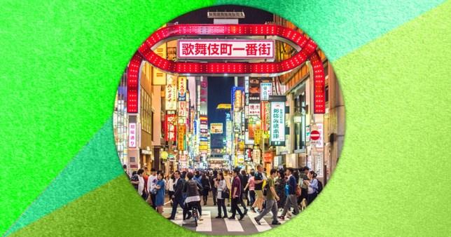 people walking in tokyo, Japan