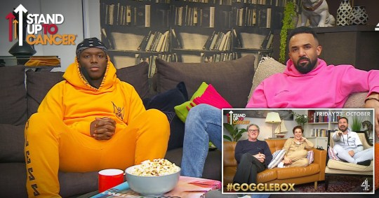 KSI and Craig David lead the Stand Up To Cancer Gogglebox lineup