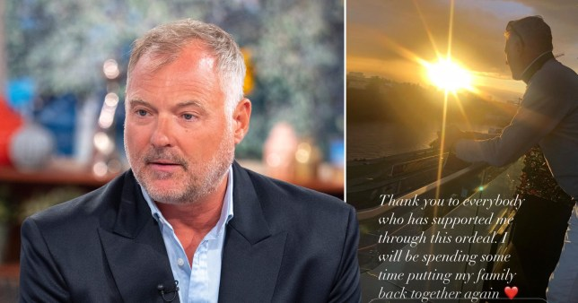 John Leslie pictured on This Morning and in front of sunset
