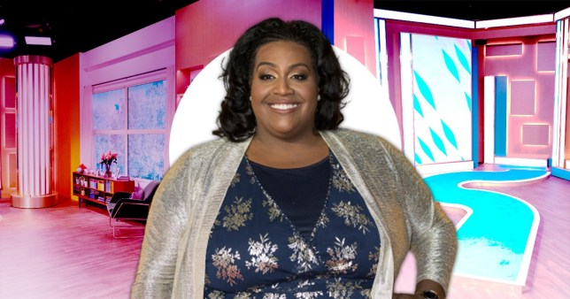Alison Hammond pictured in front of This Morning set