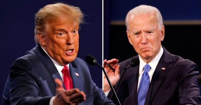 Donald Trump/Joe Biden comp