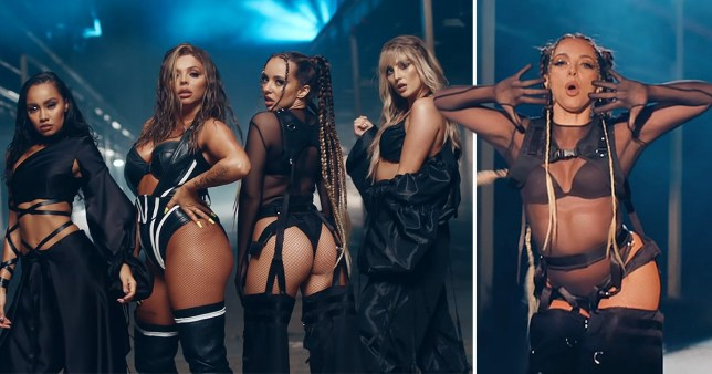 Little Mix pictured in video for Sweet Melody