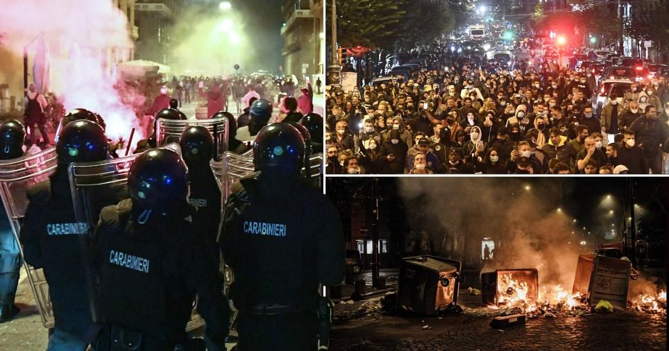 Coronavirus: Italy lockdown protest in Naples as curfew imposed | Metro News