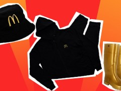 McDonald's is giving away merchandise including M-brand wellies, bucket hats and hoodies