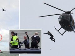 Daredevil taken to hospital after jumping from helicopter without parachute