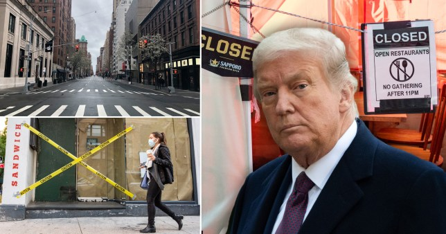 Donald Trump and empty American streets