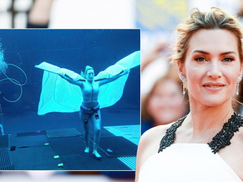 Kate Winslet reacts to breaking Tom Cruise's underwater record in Avatar