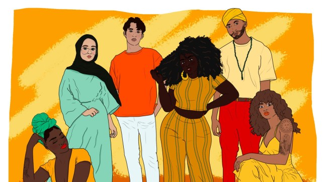Illustration of people of colour