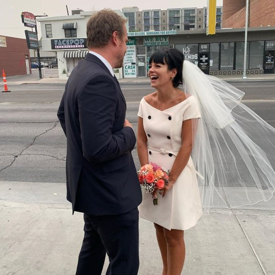 Lily Allen and David Harbour get married in Las Vegas instagram