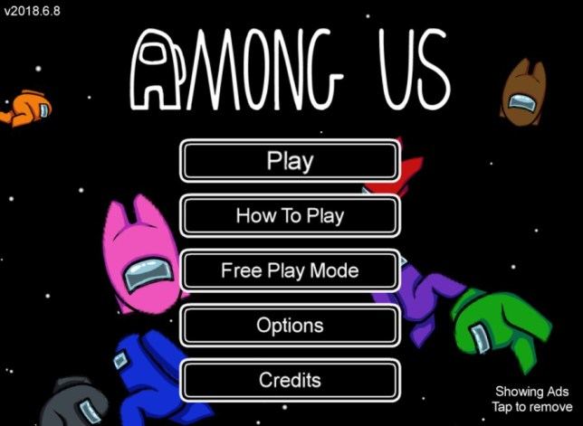 Among Us title screen