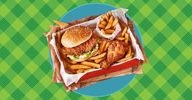 KFC Wow Box on green background