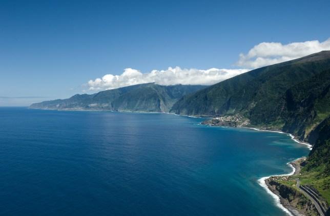 Coastal view of Maderia Islands.