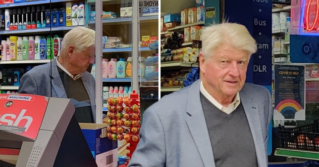 Stanley Johnson apologises for shopping without mask - hours after Boris vowed to crack down Goff Photos