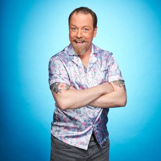 Rufus Hound in promo pic for Dancing On Ice