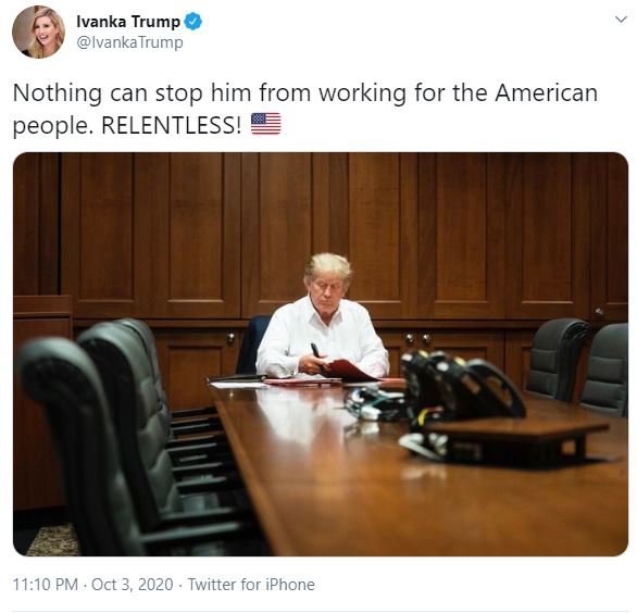 Ivanka Trump tweets about her father