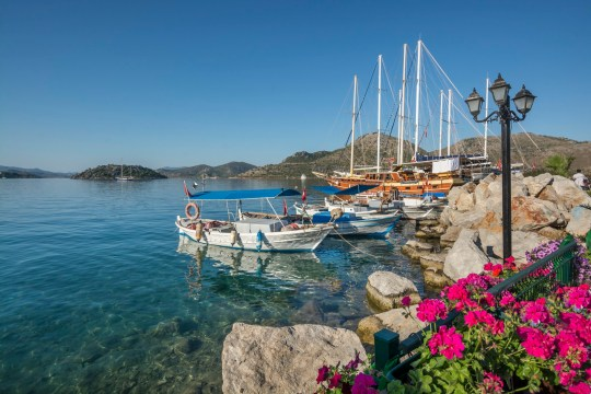 Bozburun is a small seaside town with own municipality in Marmaris district, in southwestern Turkey.