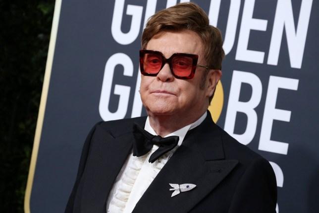 Mandatory Credit: Photo by REX/Shutterstock (10518833rv) Sir Elton John 77th Annual Golden Globe Awards, Arrivals, Los Angeles, USA - 05 Jan 2020
