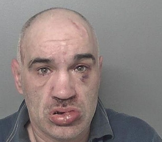 A family were forced to sleep in their car after suffering racial abuse from a downstairs neighbour. Lionel Munt, 44, of Great Thornton Street, banged on the family's door, woke them up in the early hours of the morning by playing loud music and subjected them to horrifying racist slurs as they tried to sleep. Caption: Lionel Munt, 44