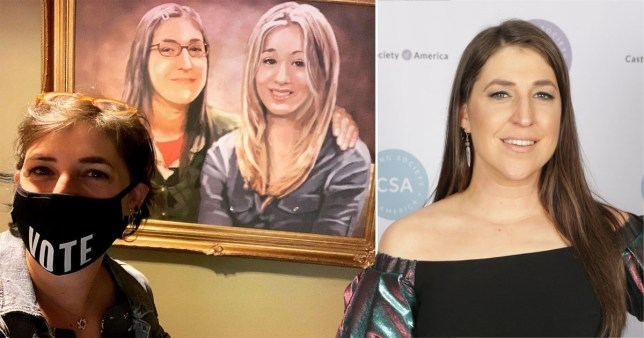 The Big Bang Theory's Mayim Bialik's Amy and Penny tribute