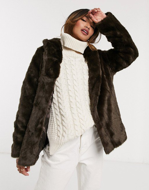 a faux fur coat from asos
