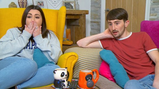 Gogglebox stars Pete and Sophie