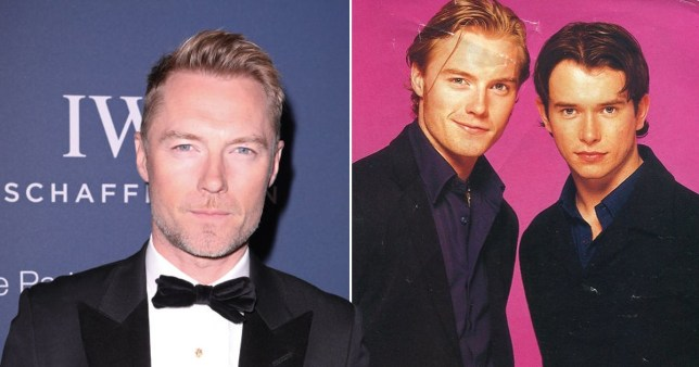 Ronan Keating pictured on red carpet alongside throwback photo with Stephen Gately
