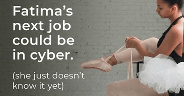 Photograph of ballerina ad