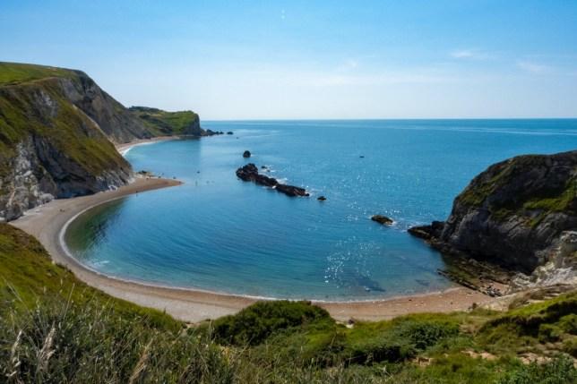 View of Dorset coast